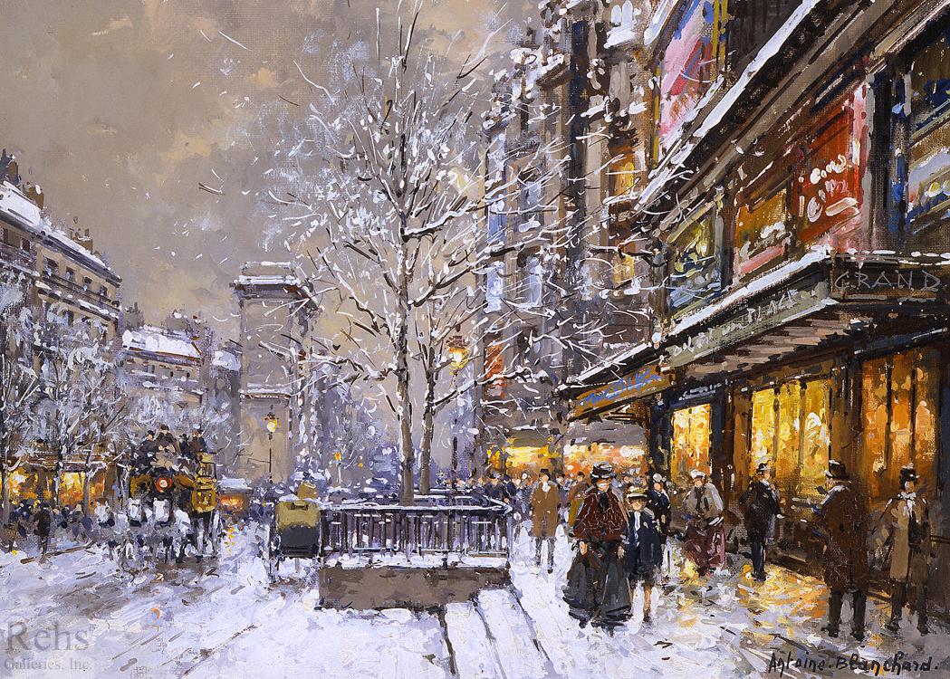 Résultat d'images pour Peintures de Paris sous la neige