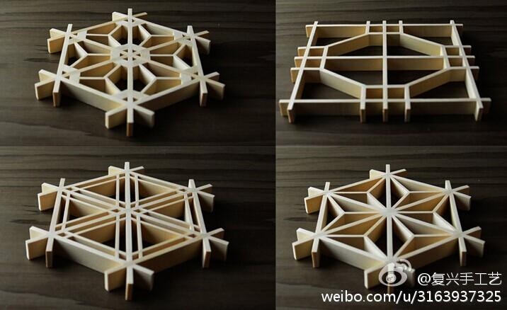 棂木条窗,传入日本后更发展出了组子细工的艺术形式